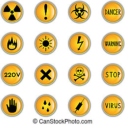 Danger buttons - Clip-art from yellow buttons on a danger...