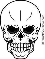Danger cartoon skull