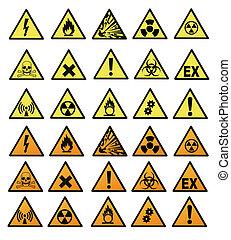 danger, chimique, signes