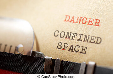 Danger confined space phrase