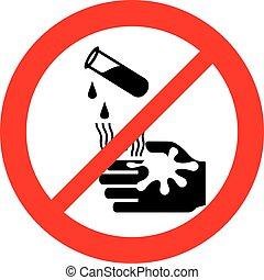 danger corrosive warning sign