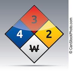 danger diamond - Isolated vector Danger Hazard sign icon...