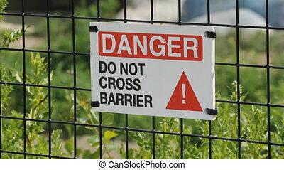 Danger - Do not cross Barrier - %u201CDanger %u2013 Do not...