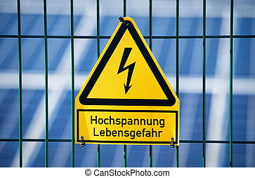 Danger Electrical Hazard High Voltage Sign