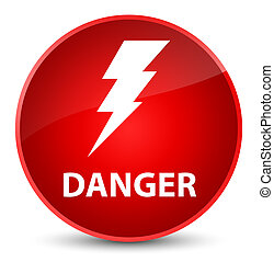 Danger (electricity icon) elegant red round button