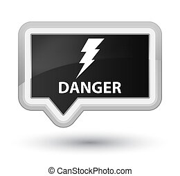 Danger (electricity icon) prime black banner button