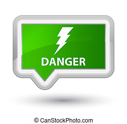 Danger (electricity icon) prime green banner button