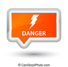 Danger (electricity icon) prime orange banner button