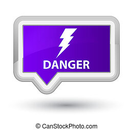 Danger (electricity icon) prime purple banner button