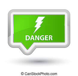 Danger (electricity icon) prime soft green banner button