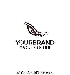 Danger eyes, angry eye Logo design vector template