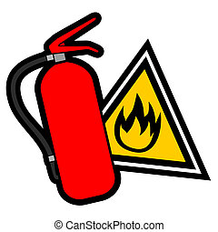 Danger fire sign - Design of danger fire sign