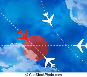 Danger Flight Paths Sky Background