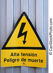 danger from electric shock
