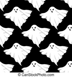 Danger ghosts seamless pattern