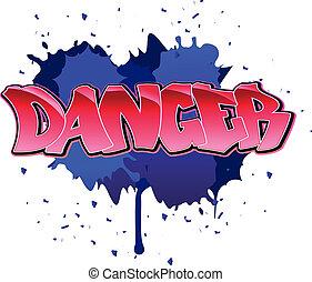 Danger graffiti background