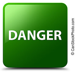 Danger green square button