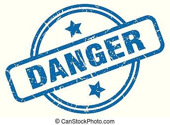 danger grunge stamp
