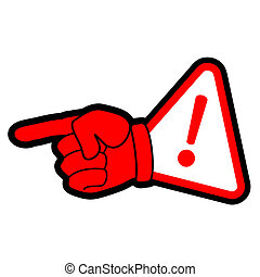 Danger hand symbol