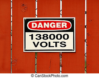 Danger High Voltage - High Voltage Sign