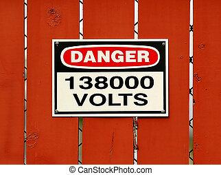 Danger High Voltage - High Voltage Sign