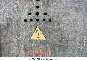 Danger, high voltage sign