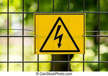 Danger High Voltage Electric Fence Warning Sign