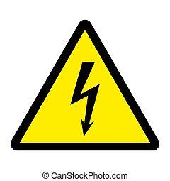 Danger high voltage vector illustration