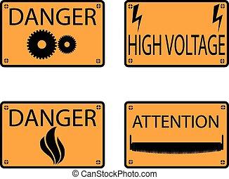 danger., icônes