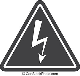 Danger icon in black on a white background. Vector...