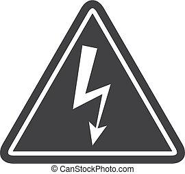 Danger icon in black on a white background. Vector illustration