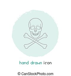 Danger icon line element. Vector illustration of danger icon line isolated on clean background for your web mobile app logo design.