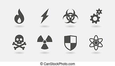 danger icon set