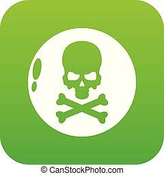 Danger icon, simple black style - Danger icon. Simple...
