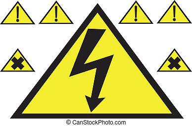 Danger icons