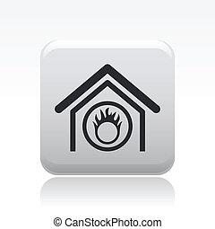 danger, intérieur, signal, moderne, illustration, vecteur, dépeindre, icône
