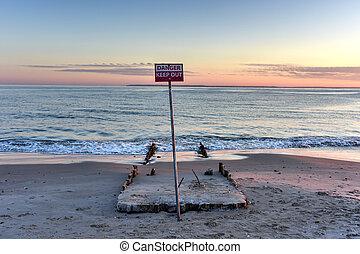 Danger, Keep Out Beach
