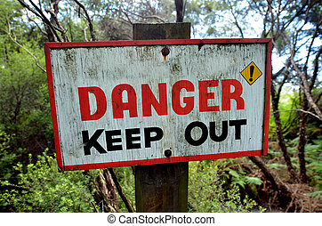 Danger keep out sign - Danger keep out wooden sign panel ...