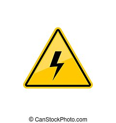 Danger. Keep out sign electric hazard and lighting