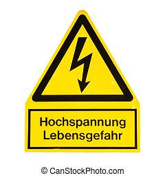 Danger of death Electric shock