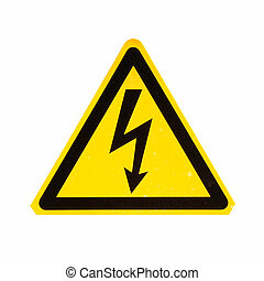 Danger of death Electric shock - Signal of danger of death...