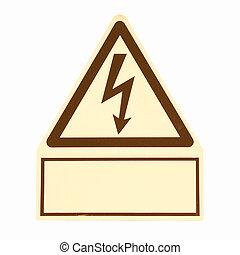 Danger of death Electric shock vintage