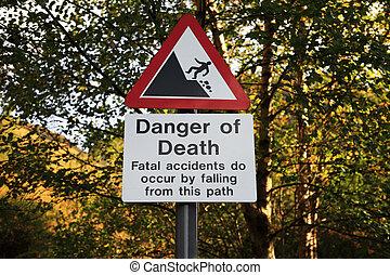 Danger of Death warning sign