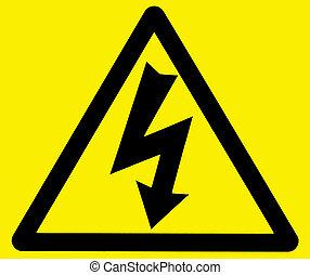 Danger of electrocution warning sign