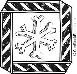 Danger of freezing sketch