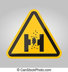 Danger Of Molten Metal Symbol Sign Isolate On White ...