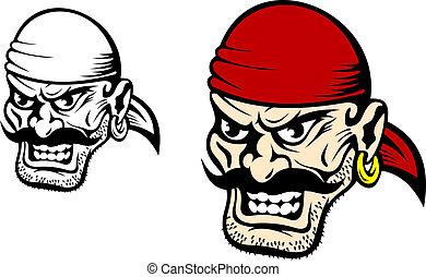 Danger pirate captain