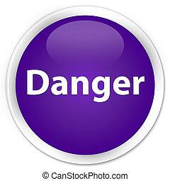 Danger premium purple round button