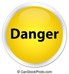 Danger premium yellow round button
