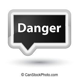 Danger prime black banner button